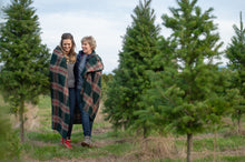 Collide Green Plaid Wool Blanket