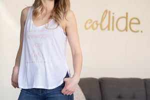 Collide Leverage Your Life Tank Tops