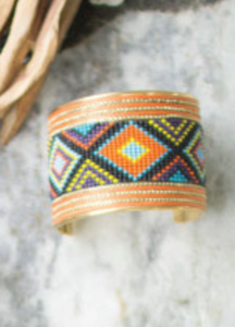 NEW! Collide Antique Brass Beaded Cuff Bracelets (6 Designs)