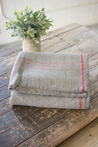 Collide Grey Wool Summer Fun Picnic Blanket