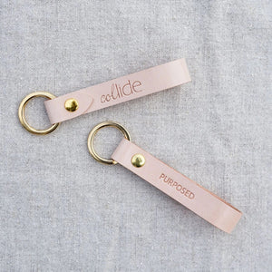 "Collide ""Purposed"" Leather Keychain"