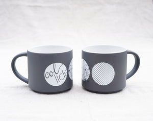 Collide Art Grey Coffee Mug