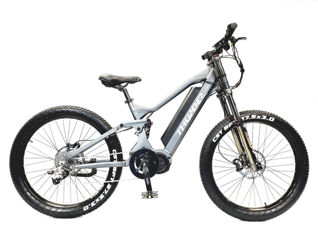 THUNDER 1000W MID-DRIVE DOWNHILL MOUNTAIN E-BIKE - FULL SUSPENSIONS