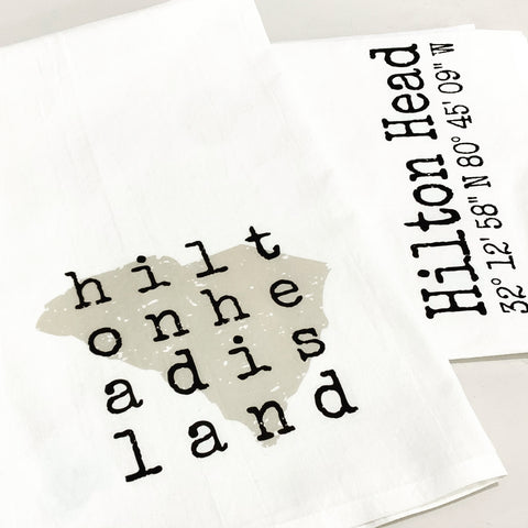 Hilton Head Island Squared Tea Towel