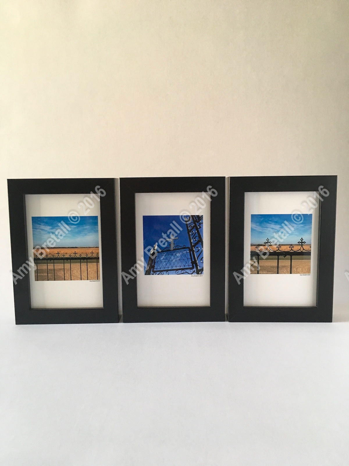 Christian gifts of a set of three cross photography frames