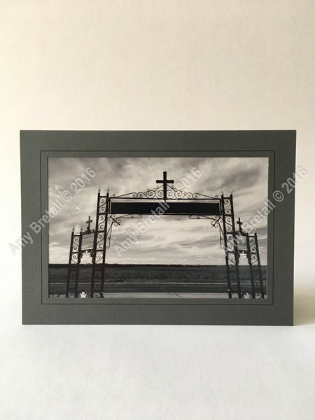 Black and White cross photography card