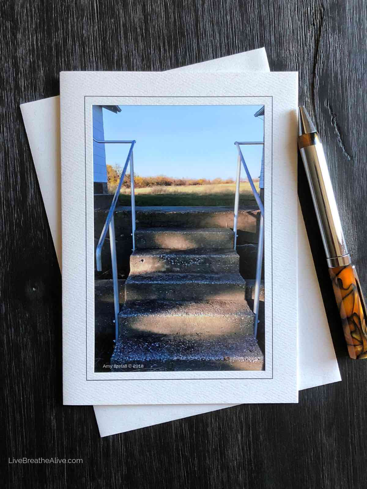 Farmhouse Steps Card