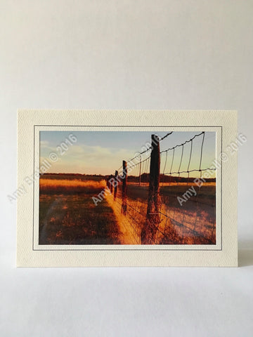 Harvest photography rural greeting card