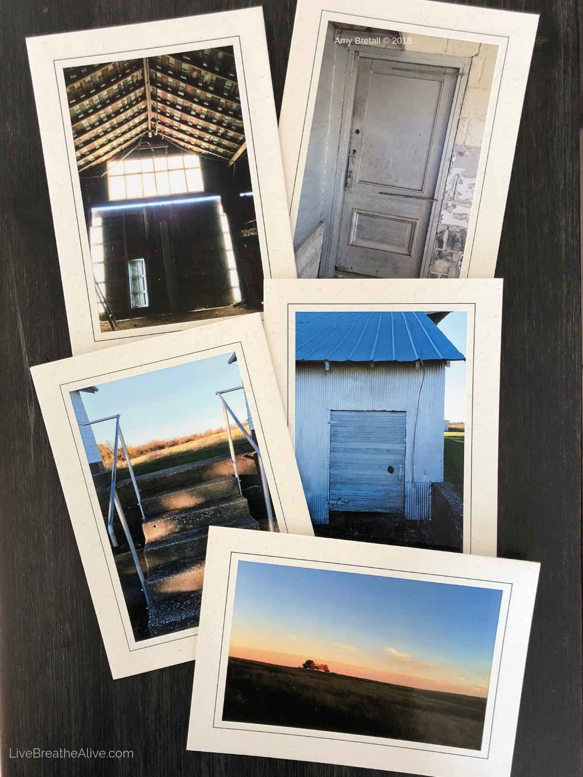 Set of Rural Photography cards (set of 5)