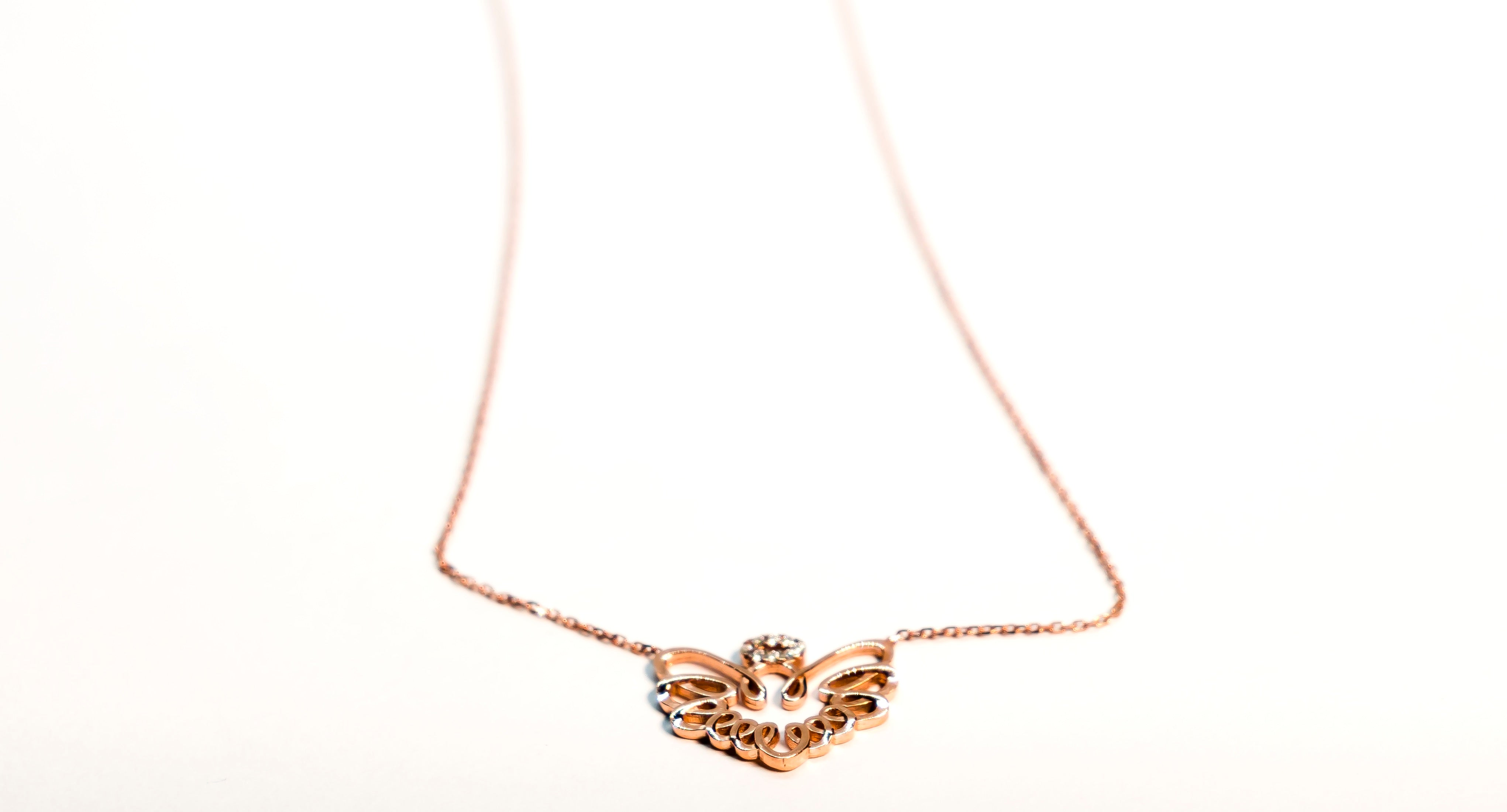 The Glared Angel Halo Necklace