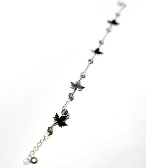 Silver Maple Leaf Bracelet The Glared