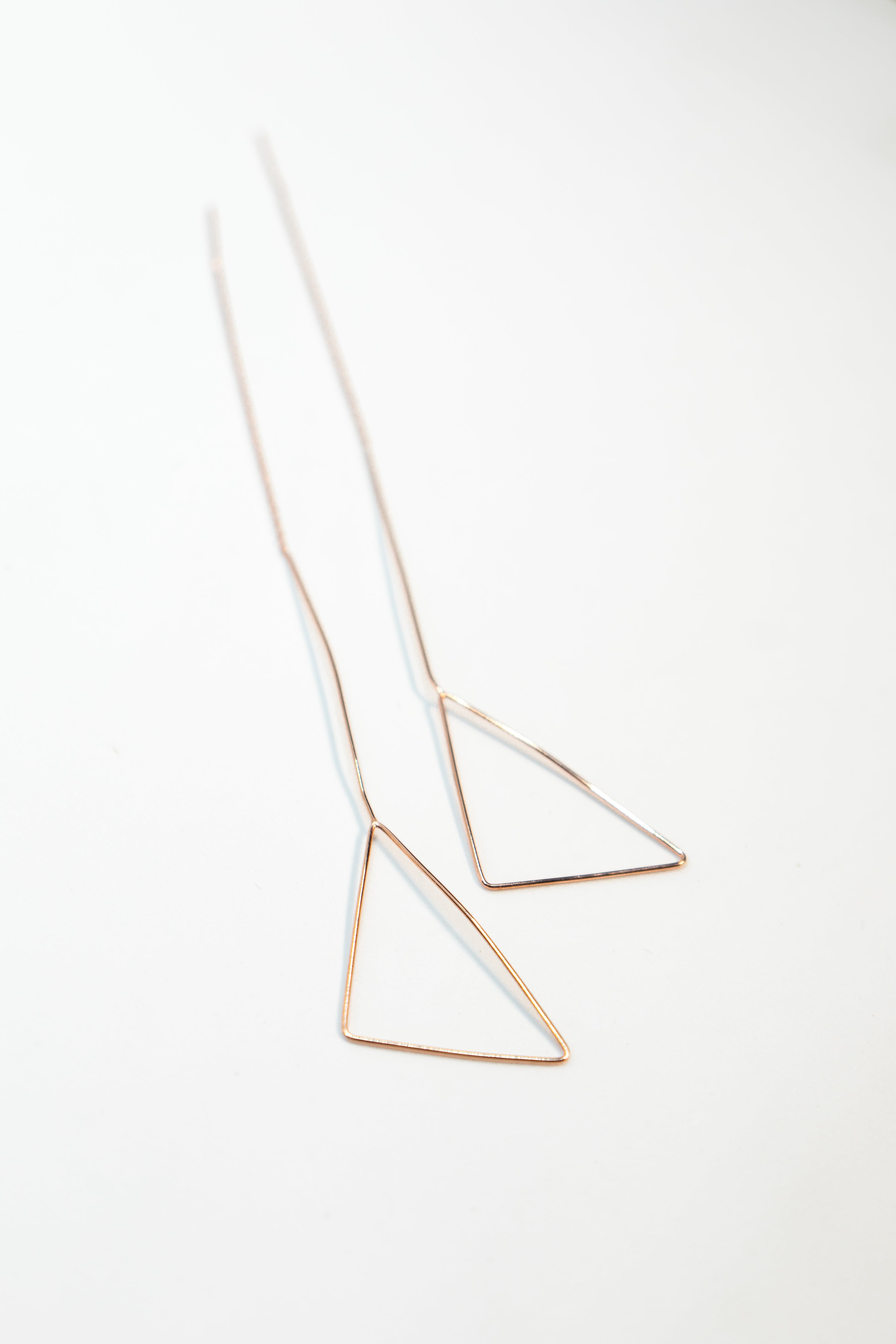 Rose Gold Triangle Earring The Glared
