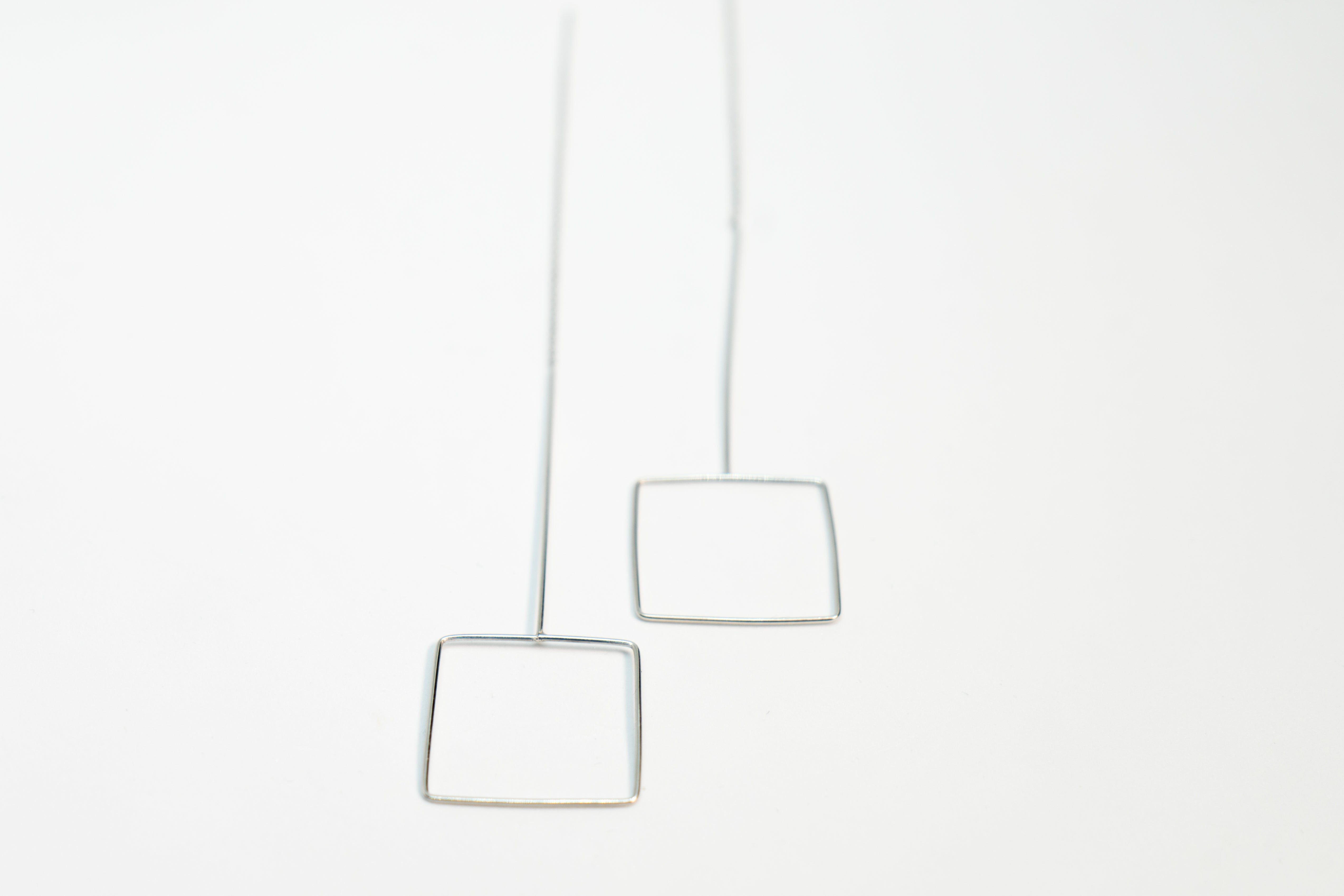Square Silver Gold Earring The Glared