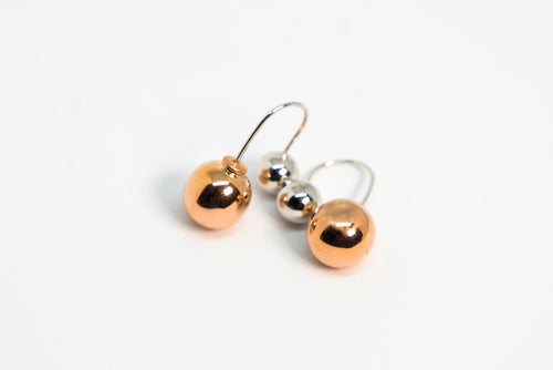 Front Back Ball Earrings The Glared