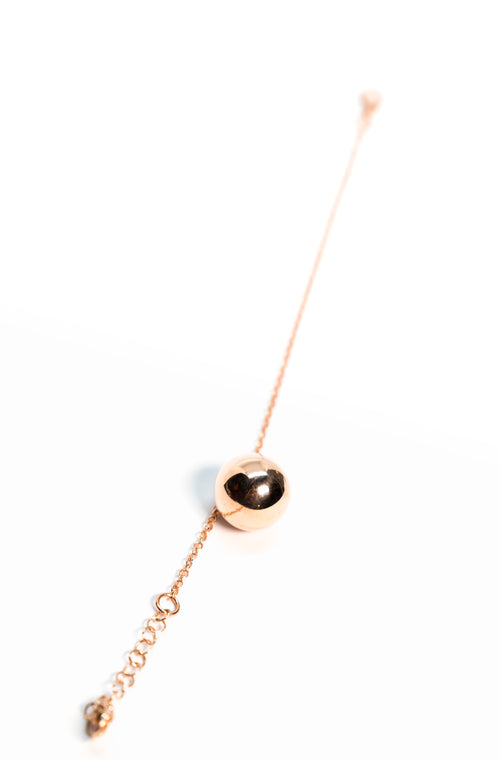 Rose Gold Golden Ball Bracelet The Glared