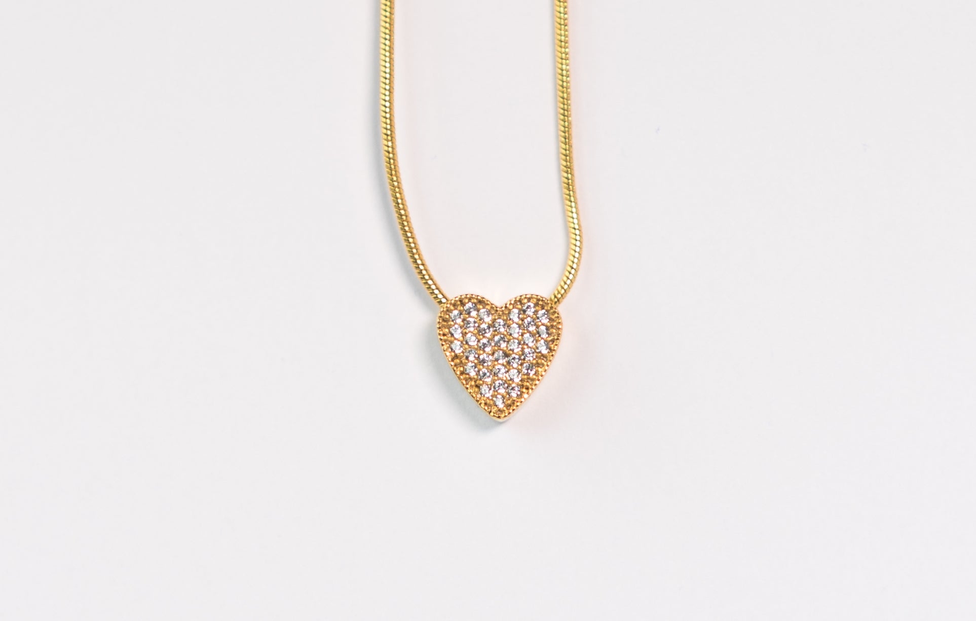 Golden Heart Necklace The Glared Gold