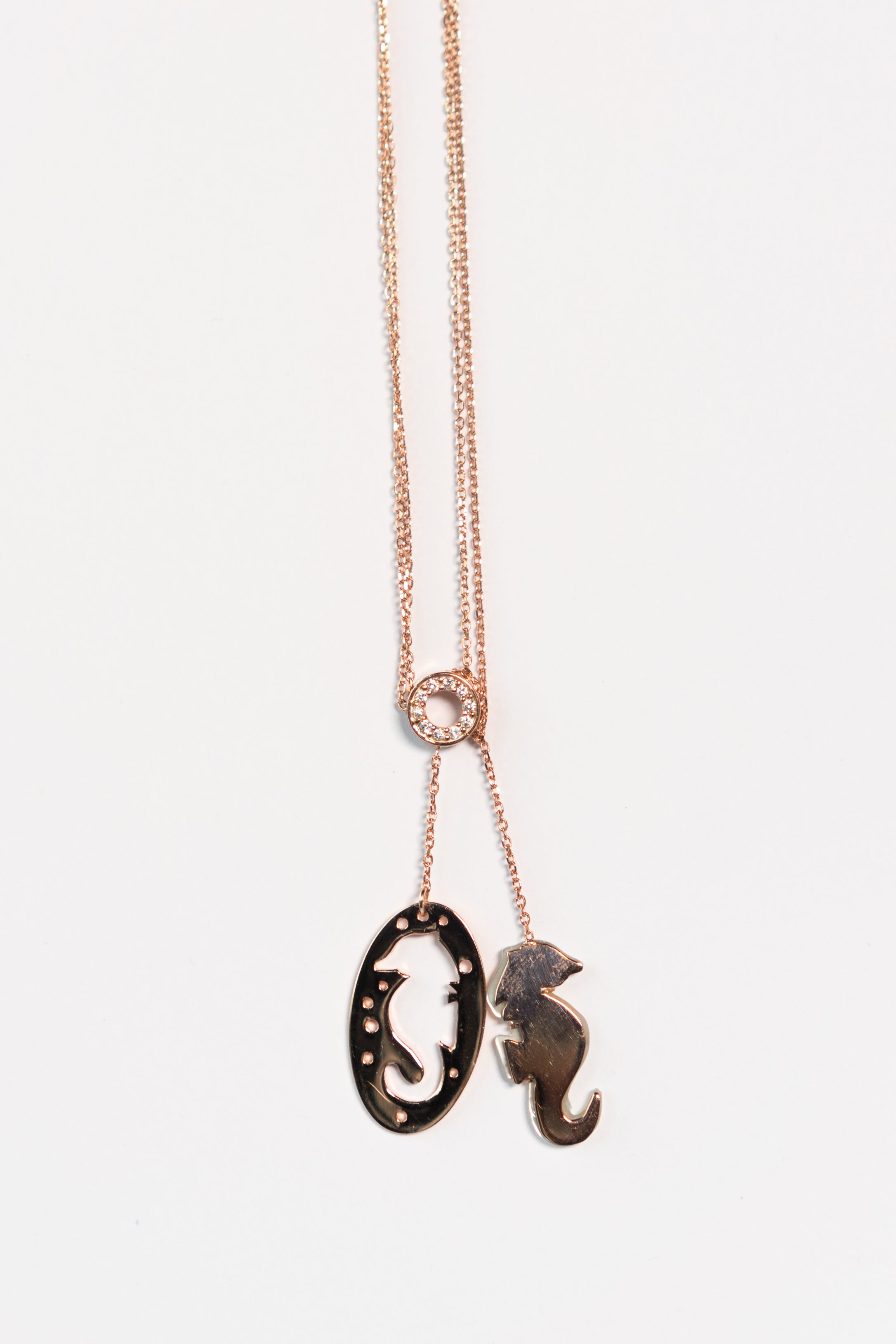 Mother of Pearl Seahorse Necklace The Glared