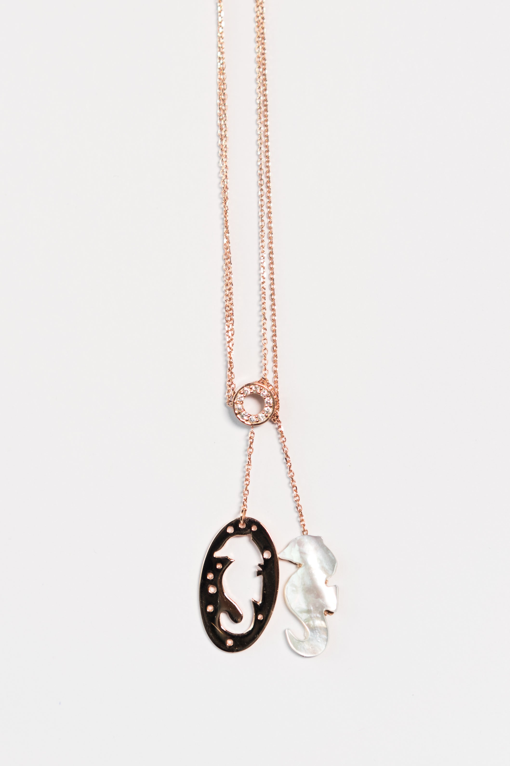 seahorse or with gold plated pendant necklace silver