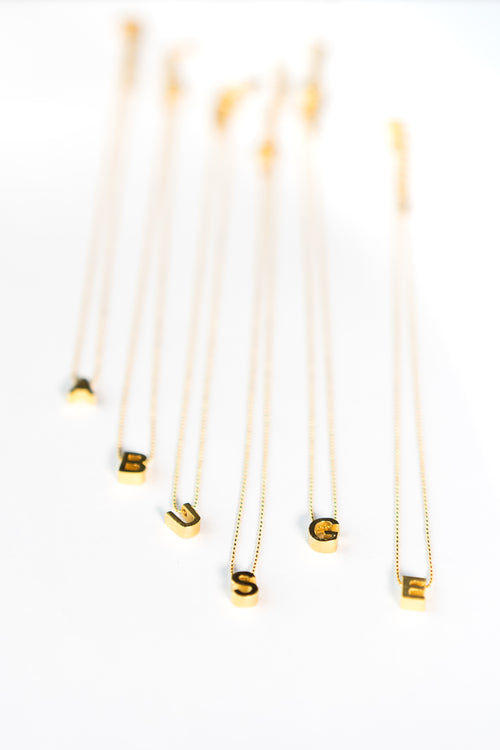 Gold Alphabet Letter Necklaces The Glared