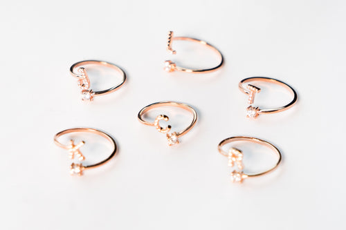 Rose Gold Letter Rings The Glared