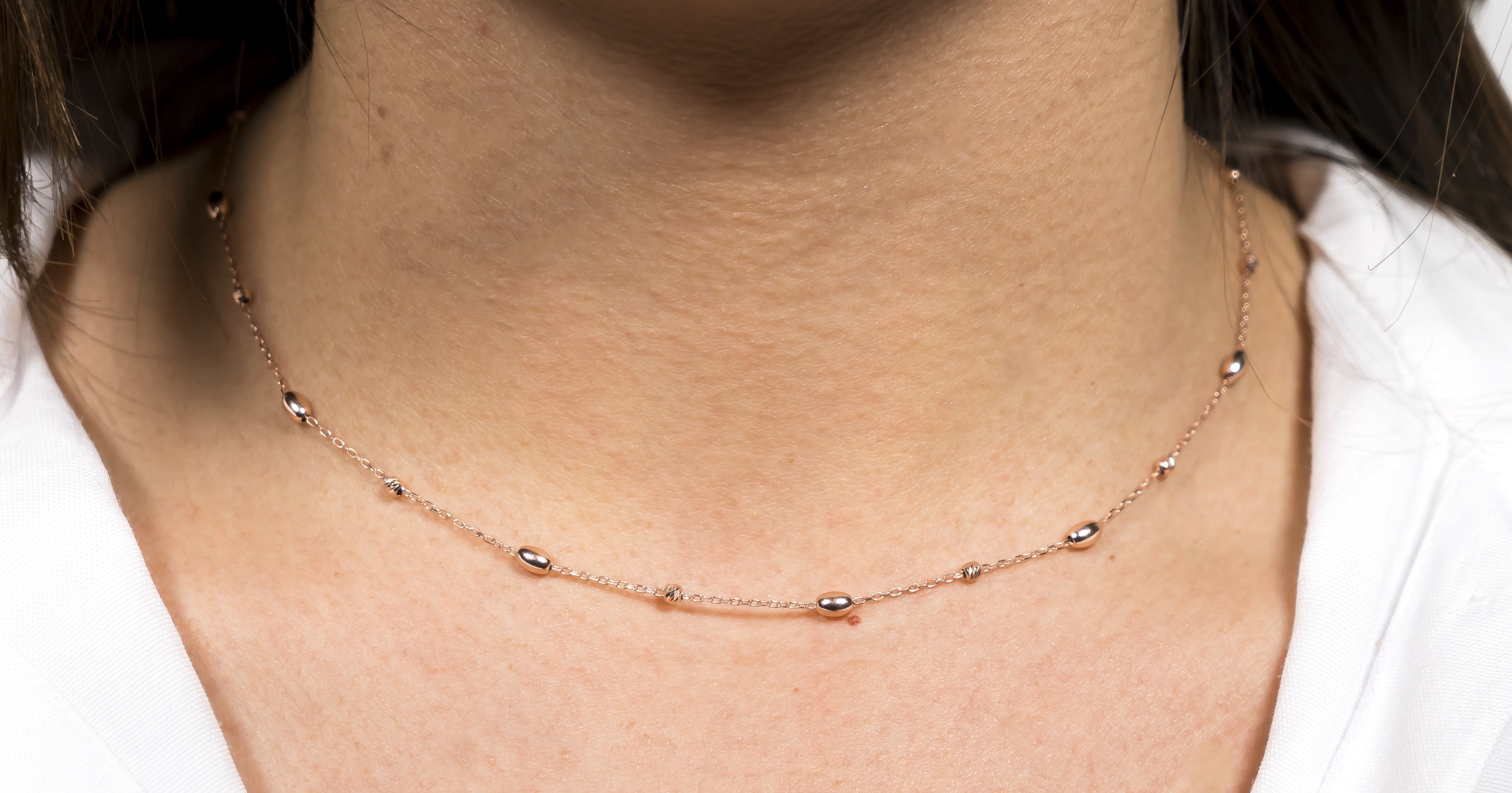 Rose Gold Droplet Necklace The Glared