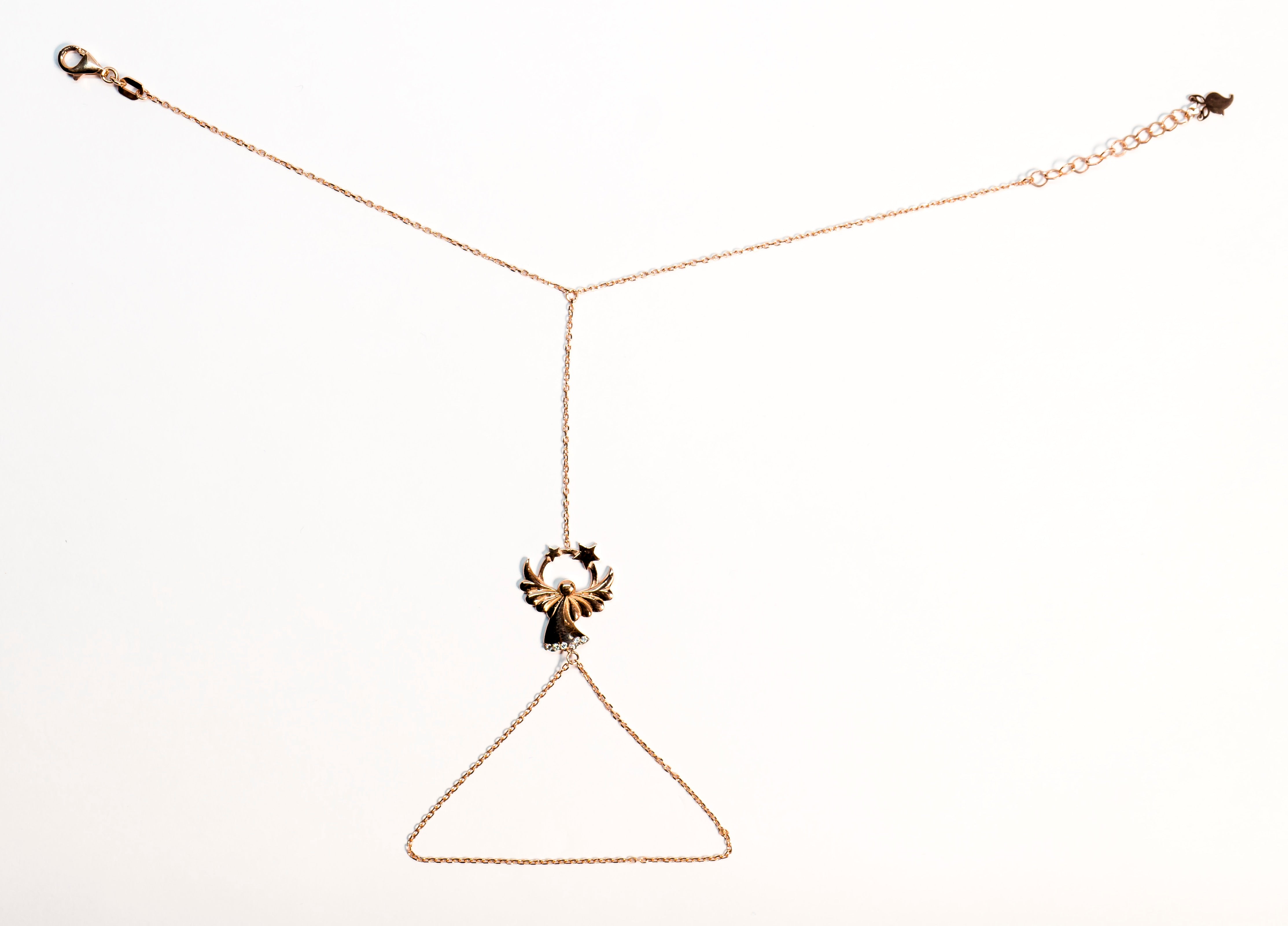 The Glared Rose Gold Angel Grace Necklace