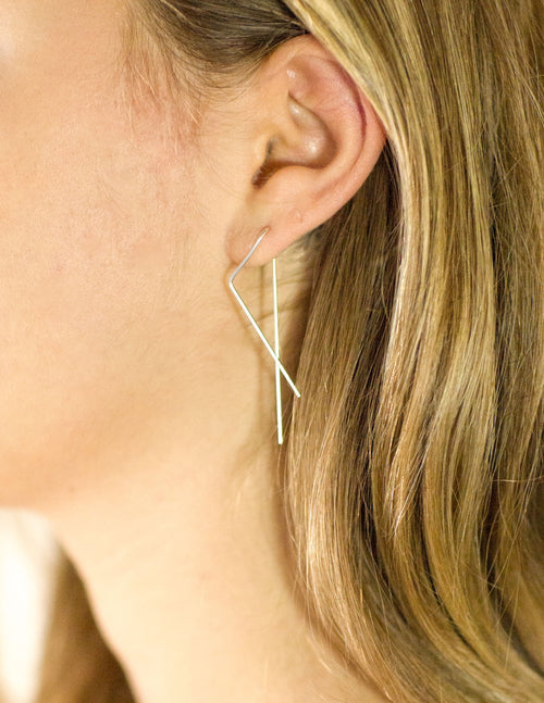Gold Lightning Earrings The Glared