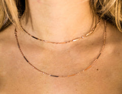 Rose Gold Dash Necklace The Glared