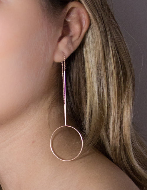 Rose Gold Hoop Earring The Glared