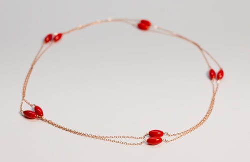 Cherry - Red Beads Necklace