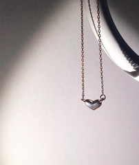 Heart Me Necklace Rose Gold The Glared
