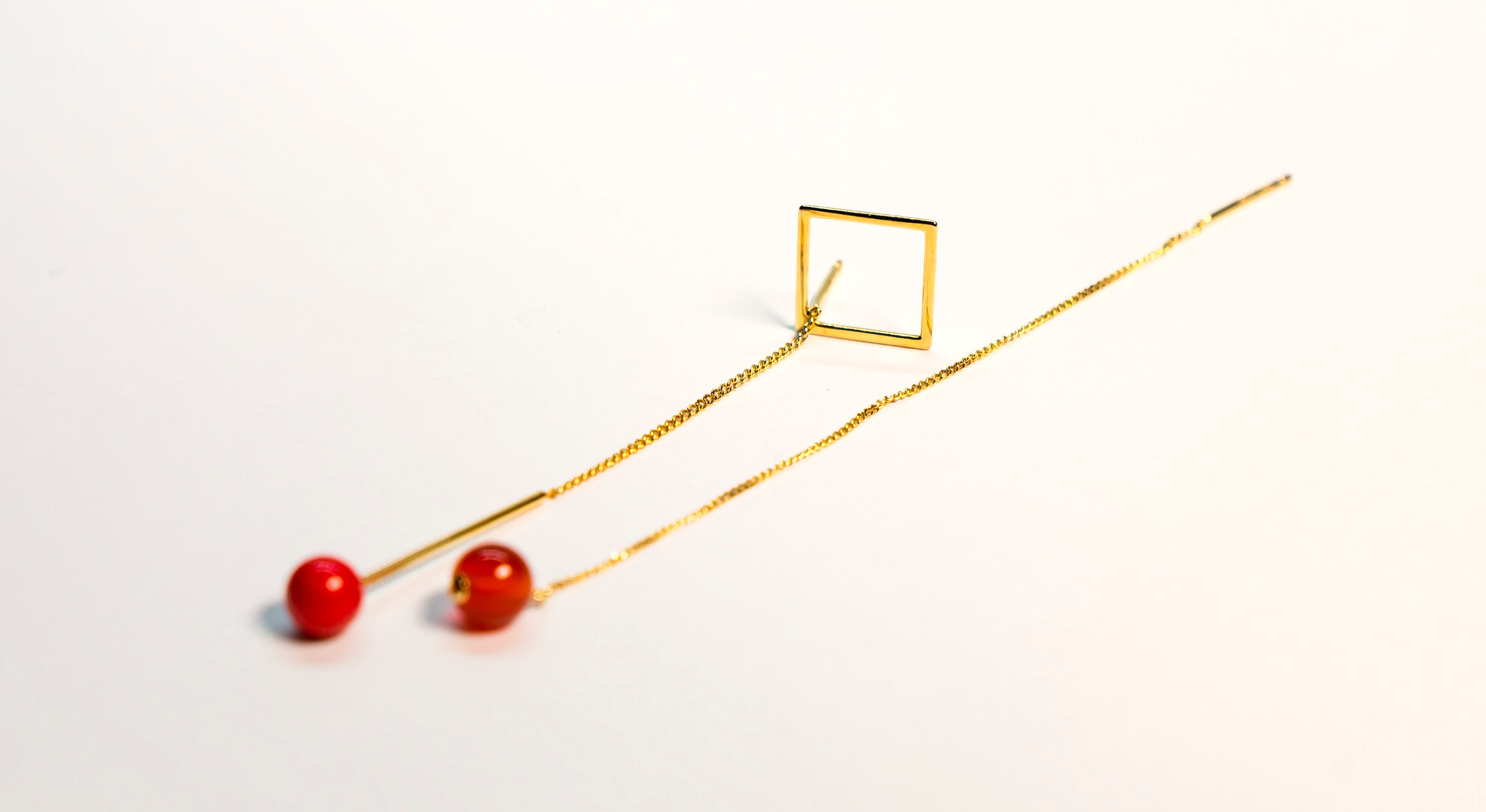 The Glared Cherry Kissed Squared Earrings