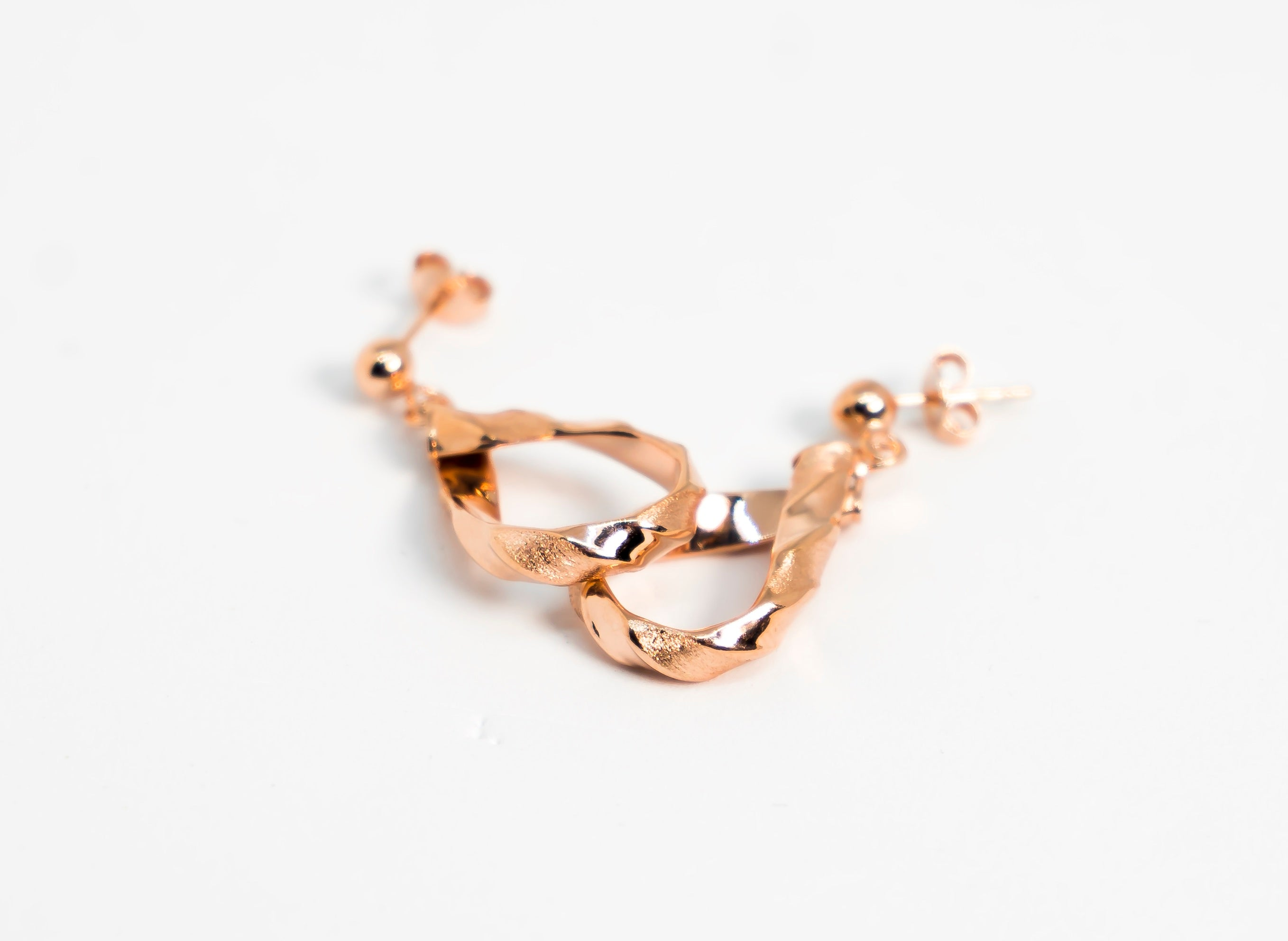 Two Layered Vintage Earrings Rose Gold The Glared