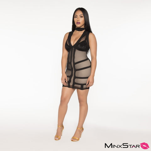 Soo Kimmy Mesh Dress - Black