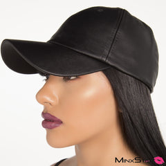 Rhythm Nation Pleather Hat - Black