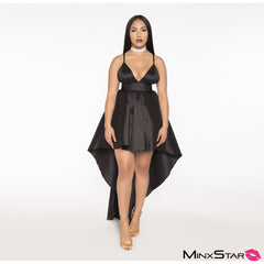 Take Me Out To Ball Hi Lo Gown Dress - Black