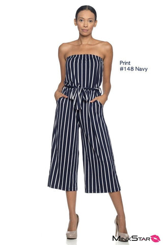 Crossing The Line Jumpsuit - Navy