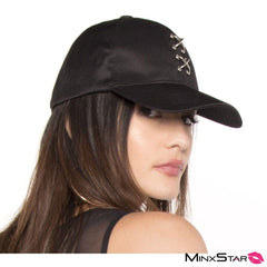 Barbell Piercing Hat - Black
