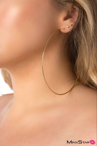 Fine 14k Gold Extra Large Thin Hoops