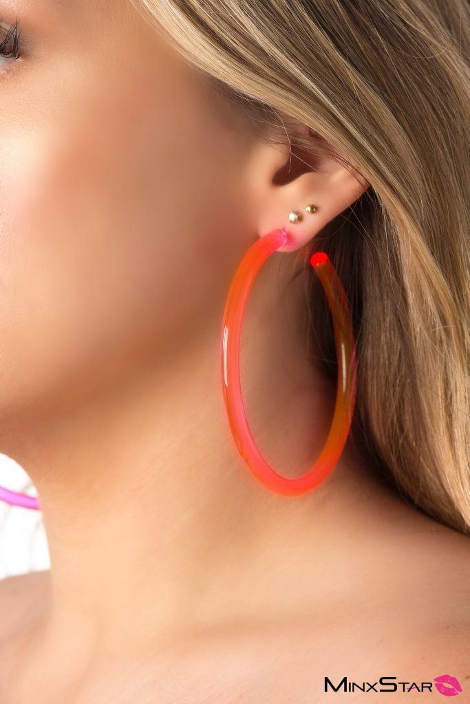 BLINGY Neon Pink Earings