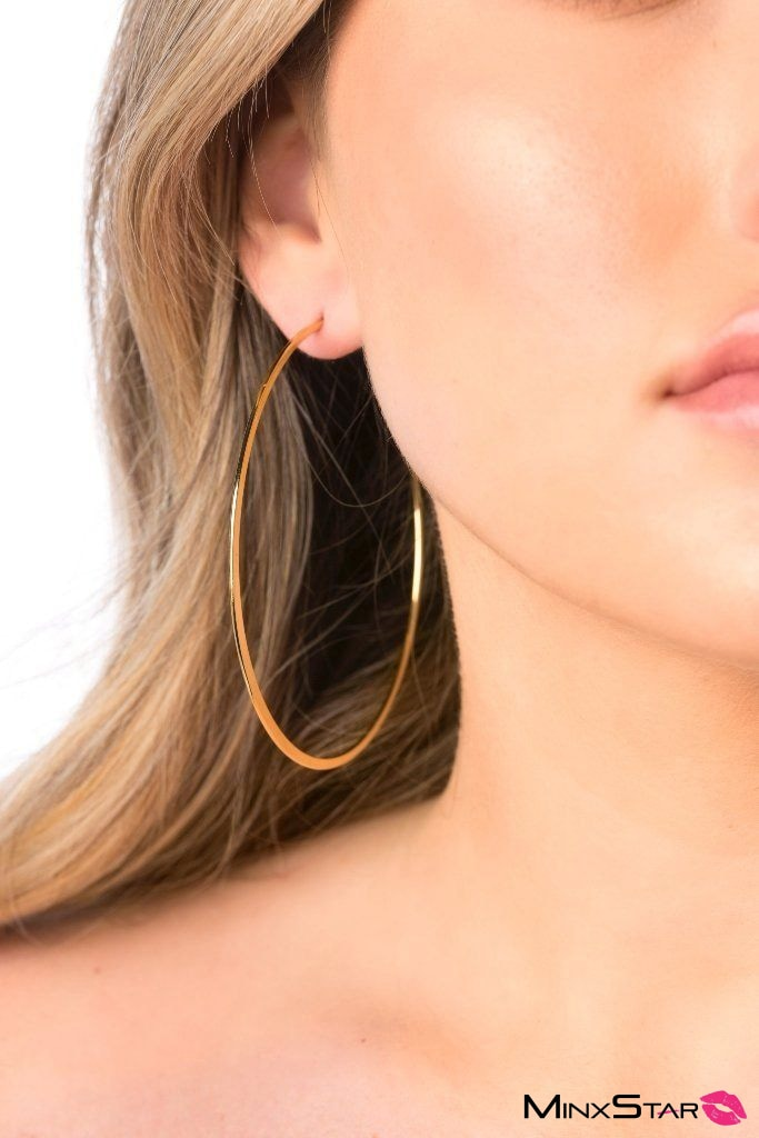 Thin Extra Large Gold Hoops