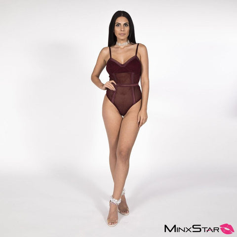 Break Free Bodysuit - Wine