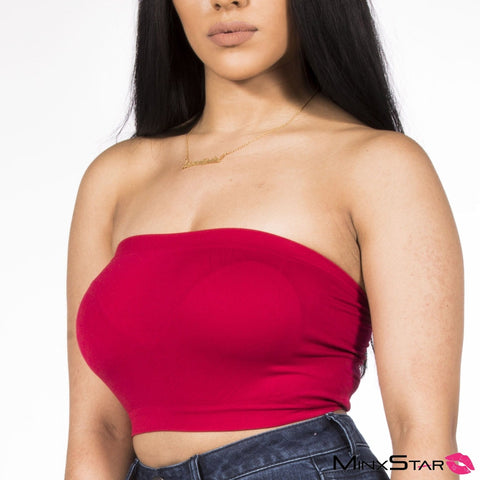 Turn Up Tube Top - Red