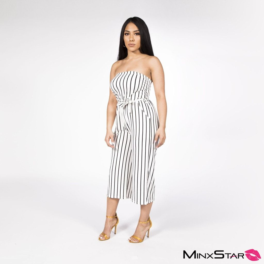 Crossing The Line Jumpsuit - White