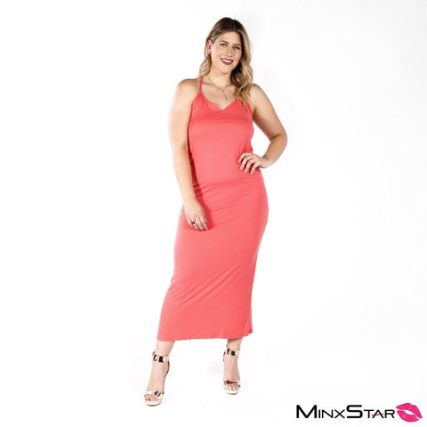 Oh Nikki Maxi Dress - Coral