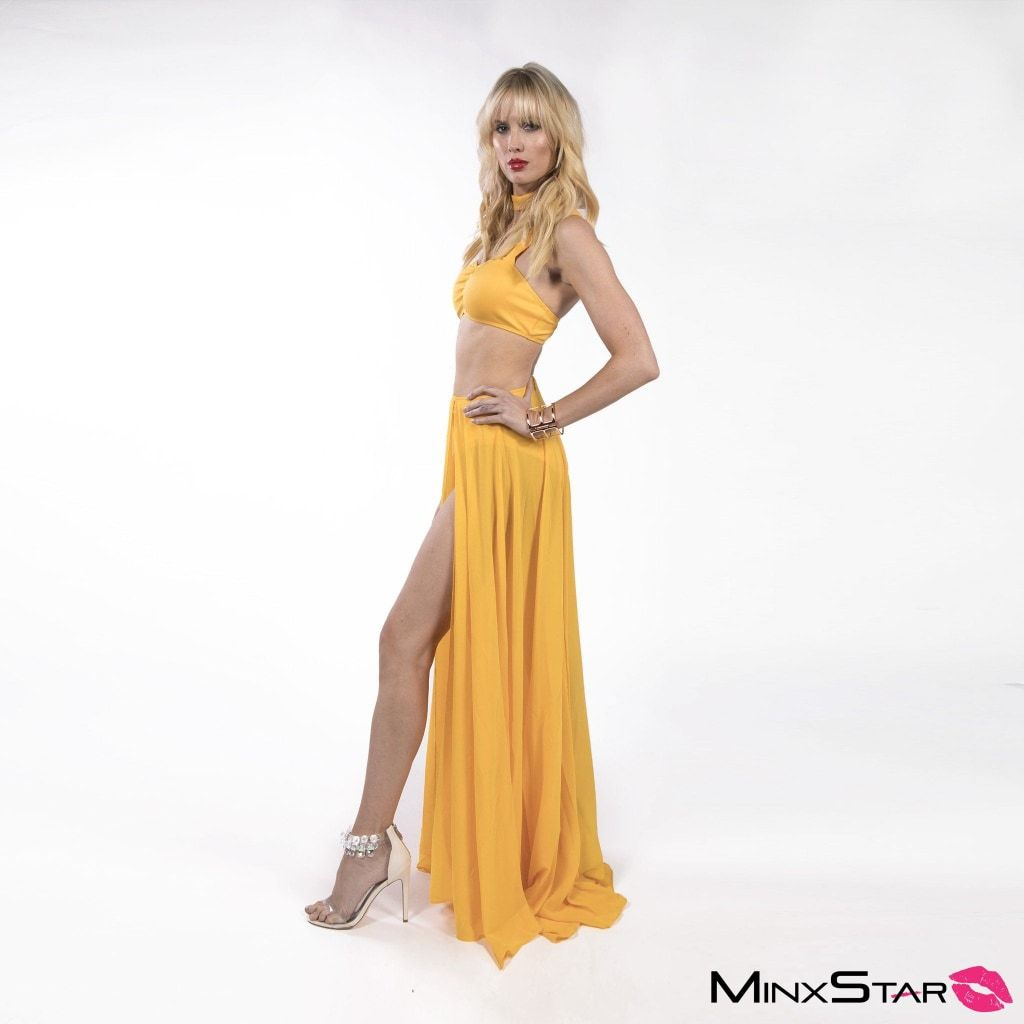 Copacabana Skirt Set - Gold