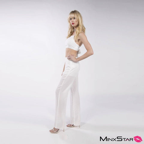 Earth Angel Pant Set - White