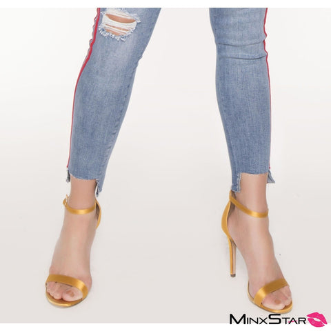 Soft Touch Satin Heel - Mustard