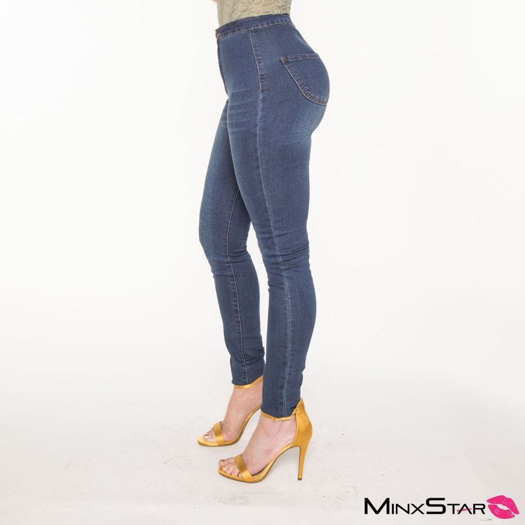 Classic Super High Waisted Skinny Jeans - Dark Wash