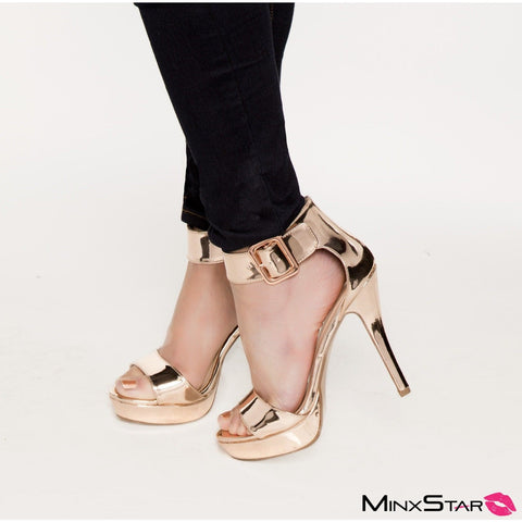 Penny For Your Thoughts Heels - Rose Gold